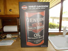 NEW IN BOX HARLEY DAVIDSON OIL CAN EMBOSSED DISTRESSED FINISH METAL SIGN