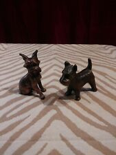 Vintage Cast-metal 2 Scottish Terrier/Scottie Dog/Terrier statue/toy/figurines