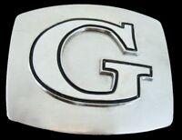 Initial Letter Name G Spot Chrome Belt Buckle Boucle de Ceinture