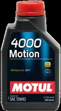 MOTUL 4000 Motion SAE 15W40 LUBRIFICANTE MINERALE BENZINA DIESEL GPL E TURBO