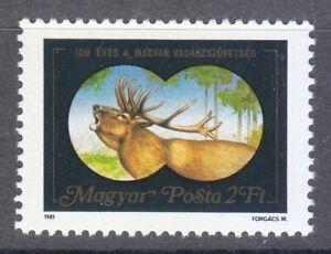 Hungary 1981 MNH Mi 3492 Sc 2687 Belling Stag. Deer Belling **