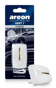 Areon Vent 7 Car Perfume Vent Clip AC and Fan Air Freshener, Iceberg Scent