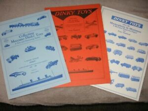 Dinky Toys X3  Meccano Magazine  Collecting    1928-1951