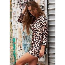 NWT Bebe top dress long sleeve bodycon leopard print hot clubbing  XXS X XS 0