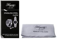 Hagerty Stainless Steel Soft Cloth Cleaning Shine Polish Watch White Metal Steel
