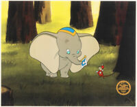 L@@K! Walt Disney's Dumbo & Timothy Mouse Mint LE 11x14 Animation Serigraph Cel