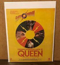 1981 FLASH GORDON Movie Soundtrack Print Ad MUSIC by QUEEN (Freddie Mercury) B10