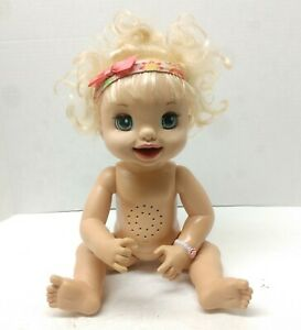Baby Alive Doll 2007 Soft Face Interactive Toy Talking Blue Eyes Blonde Hair