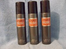MUSK SPORT COLOGNE SPRAYS  FOR MEN by JOVAN 2.5 oz EACH X 3