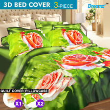 Polyester Bedroom Nature Print Quilt Covers