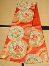 Silk Fukuro Obi Belt 412cm for Furisode kimono Women Japanese vintage /473