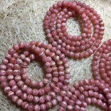 Natural Rose Rhodochrosite Gemstone Round Beads Bracelet 5.5-5mm AAA 3ROWS