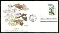 US SC # 1958 State Birds And Flowers ( Colorado ) FDC. Fleetwood Cachet .