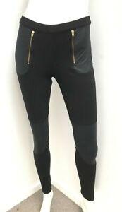NICHOLAS Australia black zip front legging ponte Pants ~ sz 8