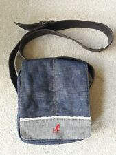 KANGOL Denim Messenger Bag Festival NWOT.