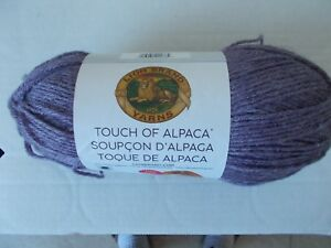 Lion Brand Touch of Alpaca  yarn, Purple Aster, 1 large skein (415 yds)