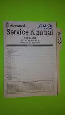 Sherwood xa-5400 5300 service manual original repair book stereo power amp