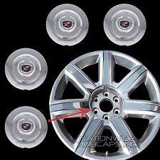 """2015 16 17 Cadillac Escalade 22"""" Chrome Wheel Center Hub Caps Rim Lug Cover Hubs"""