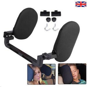 Adjustable Car Seat Headrest Pillow Head Neck Support Rest Sleep Side Cushion UK