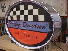 Harley Davidson, Moteur, vélo, Lightup, Sign, Display, MANCAVE, Garage, Moto, hangar