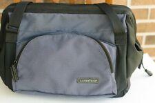 Lands End Do It All / Beach Diaper Bag w/ Blue Waterproof Lining, Blue Black