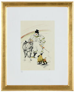 """Fine Toulouse Lautrec """"Circus' Hand Numbered 15/20 Lithograph Unframed COA"""