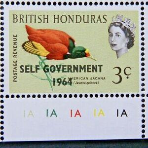 BRITISH HONDURAS 1964 SG218 3c. SELF GOVERNMENT 1964 OVERPRINT  -  MNH