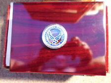 HUMIDOR  Desk-Top with USAF Medallion....Plus nice Extras >> Great Gift!
