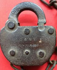 Vintage Adlake Chicago & Northwestern Lock Obsolete Railroad Lock W/ No Key