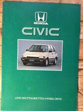 Honda Civic Shuttle Car Brochure - c1984