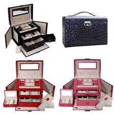 PU Large Jewellery Box Case Watch Holder Storage Organizer With Lock New