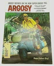 Argosy Magazine 1958 Vespa Scooter Cover The Outcast Ernest Haycox Father's Day