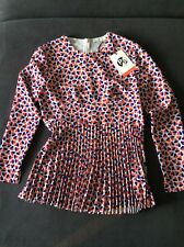 Designer PAUL SMITH Womens Hearts ❤️💙Pleat Blouse/Top Size 10 NEW rrp £225 Bnwt