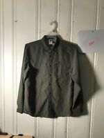 THE NORTH FACE MEN OUTDOOR SHIRT MED GREEN CONVERTIBLE SLEEVE ZIPPER POCKET B405