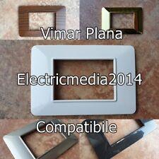 PLACCA VIMAR PLANA PLACCHETTA COMPATIBILE PLACCHETTE 3 4 7 POSTI