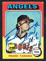 Frank Tanana #16 signed autograph auto 1975 Topps MINI Baseball Trading Card