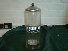 Large11� Barbicide Disinfectant Jar Glass Container King Research