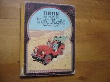 Les aventures de TINTIN au pays de l'or noir HERGE dos B 22 bis MAUVAIS ETAT