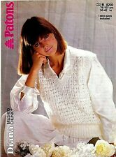 Patons Diana Brushed Chunky KNITTING PATTERN, Women SLIPOVER