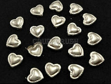 Free Shipping - 100pcs 9mm SILVER HEART Studs Nailhead Spots Spikes Shoes S230