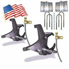 "1988-98 Chevy C1500 C2500 2WD 4""4"" Lift Spindles/Blocks Trucks SUV Ext Brakeline"