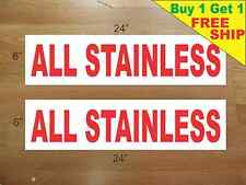 "ALL STAINLESS 6""x24"" REAL ESTATE RIDER SIGNS Buy 1 Get 1 FREE 2 Sided Plastic"