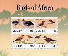Liberia 2007 MNH Birds of Africa II 4v M/S Francolin Roller Oriole Stamps