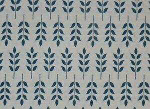 Blue Petal Design Cotton Linen Fabric