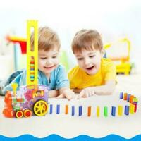60pc/Set Children Dominos Rally Train Toy Birthday Christmas H8A7 Game Gift H6L4