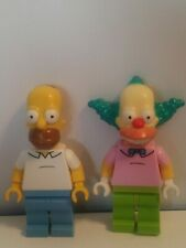 Lego Minifigures The Simpsons  Homer Krusty The Clown - Lot Of 2 - Mint