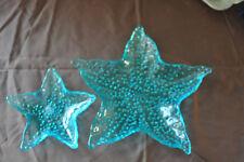 Decorative Plate Set - Starfish - Aqua