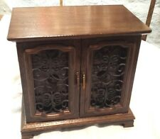 Vintage Musical Wood Armoire Jewelry Box with Multiple Drawers