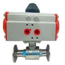 """4"""" Sanitary Stainless Steel 304 Tri-Clamp Ferrule Type Pneumatic Ball Valve"""