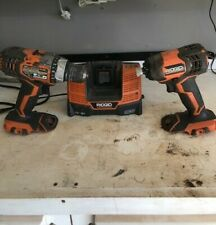 Ridgid 18v Drill impact Combo ( Tools and Charger) NO BATTERIES